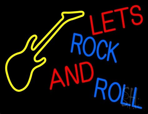 rockin lights rock lets rock and roll neon sign neon signs neon light