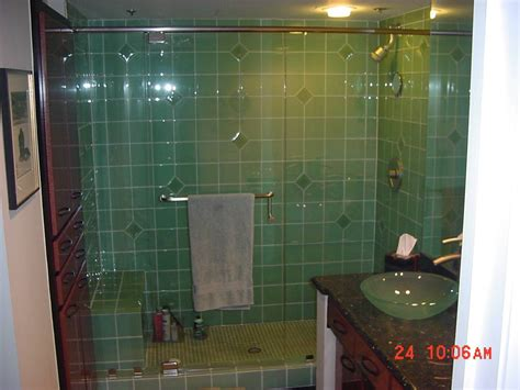 bathroom tiles glass 27 nice pictures of bathroom glass tile accent ideas