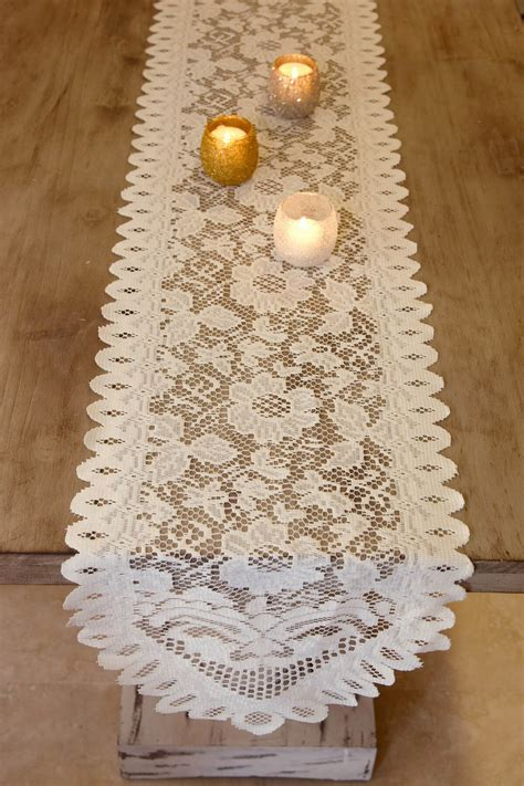 ivory lace table runner lace table runners ivory 13 quot x 120in