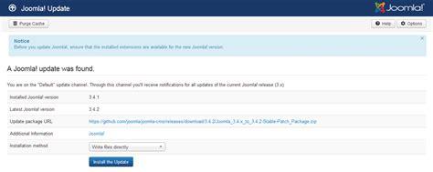 Manual Joomla Upgrade | j3 x updating joomla update method joomla documentation