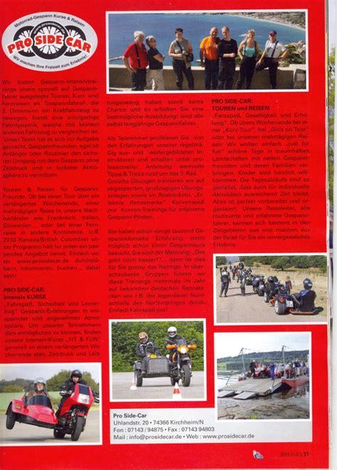 Wheelie Motorrad Zeitschrift prosidecar
