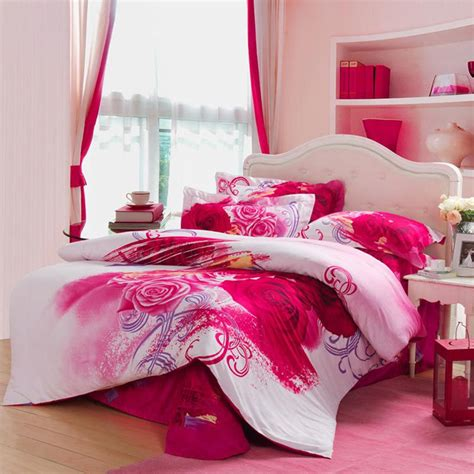 red and white girls bedroom red white and pink antique kumala rose pattern full queen