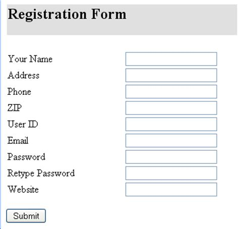 html tutorial registration form quick easy form validation tutorial with jquery