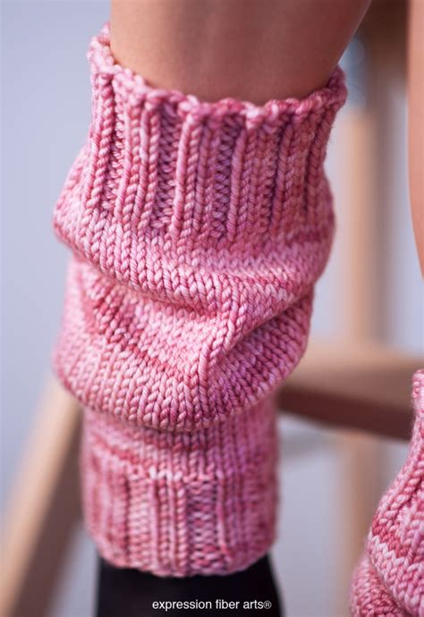 how to knit a warmer free scrunchable knitted leg warmer pattern expression