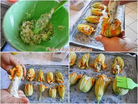 fiori di zucchina ripieni al forno fiori di zucca ripieni al forno preparazione facile con