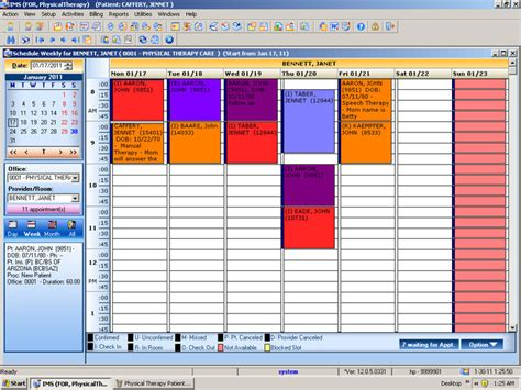 patient scheduling template physical therapy emr practice management software 1st