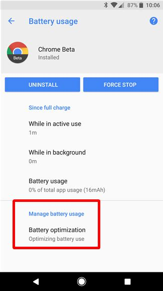 limit background activity  apps  android oreo