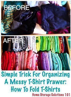 T Shirt Drawer Organization by 17 Best Ideas About T Shirt Storage On