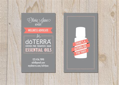 doterra business card template items similar to brand doterra business cards digital file on etsy