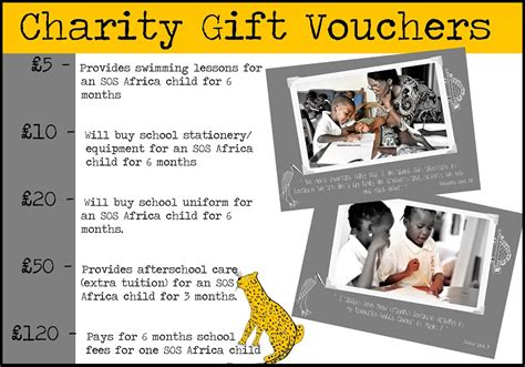 gifts that help charity sos africa charity gift vouchers buy charity cards gifts