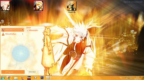 themes naruto shippuden windows 7 theme win 7 naruto bijuu mode by bashkara