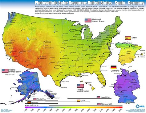 solar radiation map usa solar energy