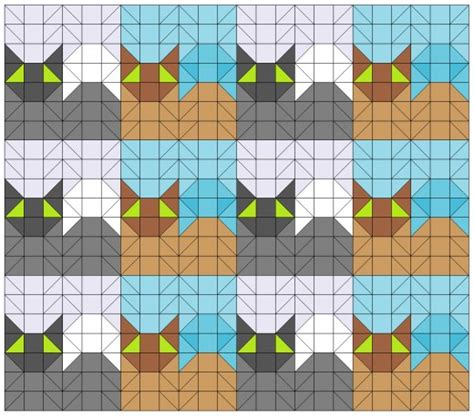 cat tessellation templates images