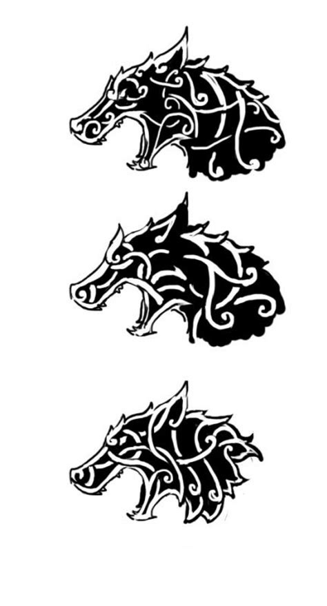 nordic pattern meaning celtic viking wolf tattoo design viking and celtic