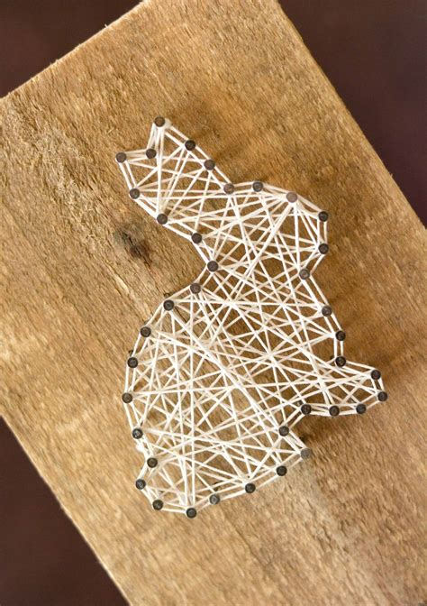 Easter String Art Home Decor Craft Bunny Carrot And Egg String Templates