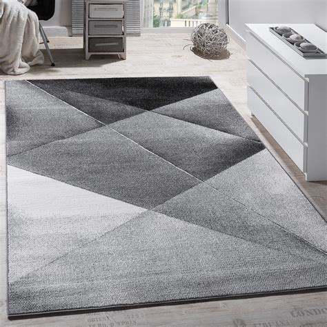 grey pattern rug uk designer carpet modern geometric pattern short pile grey