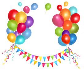 transparent party streamer and balloons png clipart