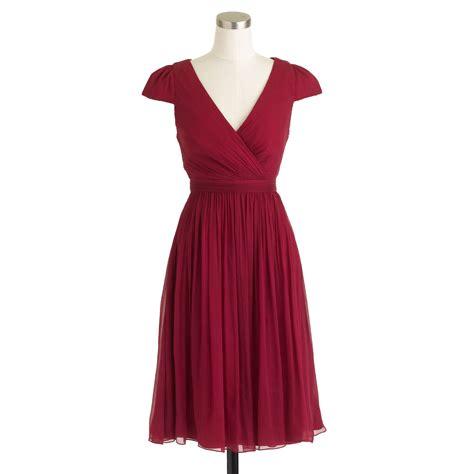 Dress Mirabelle j crew mirabelle dress in silk chiffon in lyst
