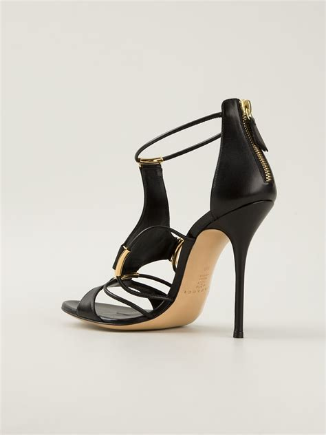 casadei high heels casadei high heel sandals in black lyst
