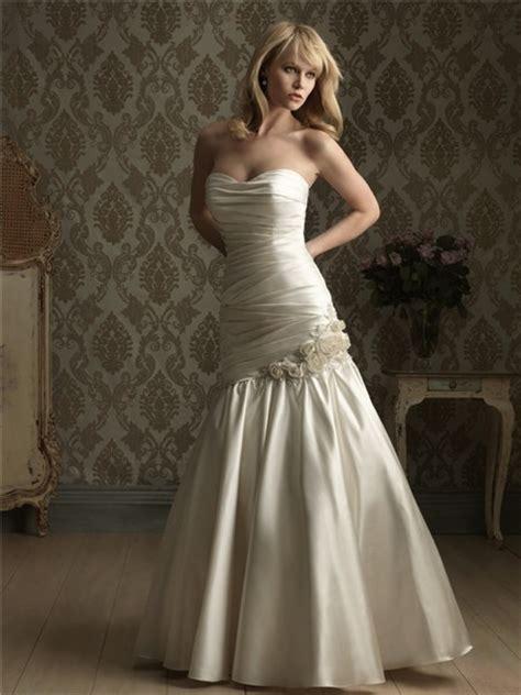 mermaid strapless corset back ruched wedding dress