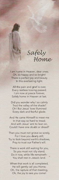 safely home poem 1000 images about obituary bookmarks on miss