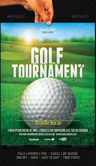 golf tournament flyer sports events