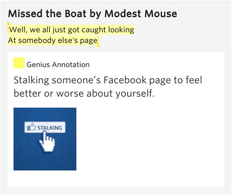 modest mouse missed the boat lyrics well we all just got caught looking at missed the boat