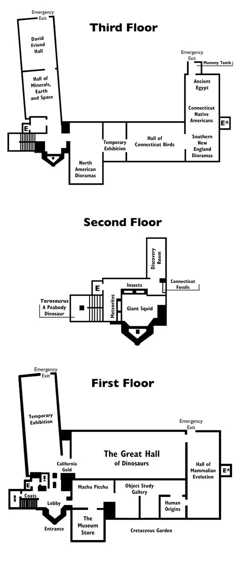 floor plans exhibits yale peabody museum of