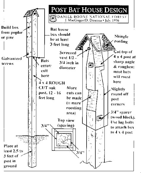 woodguide bat house plans nc learn how