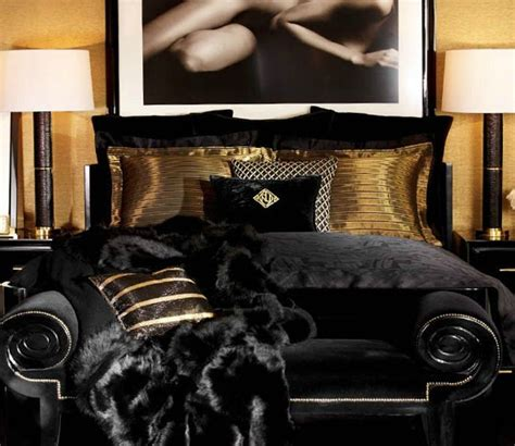 ralph black and gold bedroom i black and gold