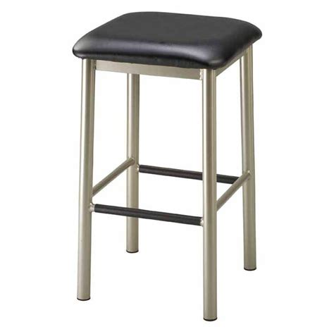 square seat counter stools regal rodger 26 in square backless metal counter stool