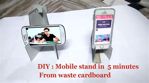 diy phone stand for desk diy craft mobile phone stand for desk how to mobile