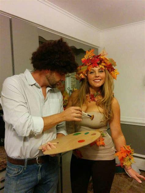 bob ross   happy tree couples halloween costume