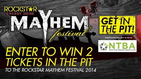 Dallas Sweepstakes - rockstar ntba mayhem festival sweepstakes dallas rockstar energy drink