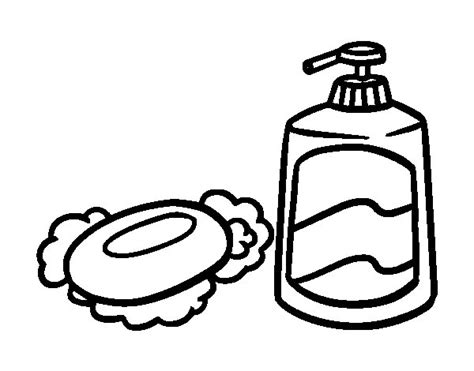 Bath Soaps Coloring Page Coloringcrew Com Toothbrush And Soap Coloring