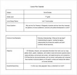 Common Lesson Plan Template by Doc 580642 Common Lesson Plan Template Common