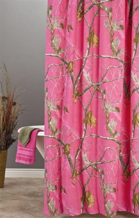 realtree pink fuchsia camo shower curtain
