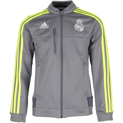 Jaket Real Madrid 2015 2016 real madrid adidas anthem jacket grey