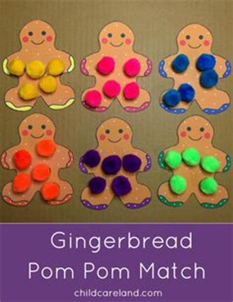 gingerbread man matching game printable gingerbread color pom pom match for fine motor color