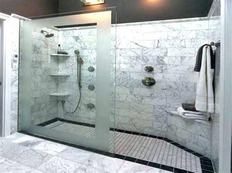 doorless walk in shower shower fancy design bathroom walk