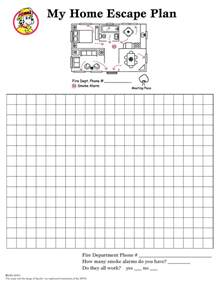Printable Escape Plan Template by Best Photos Of Home Plan Template Safety