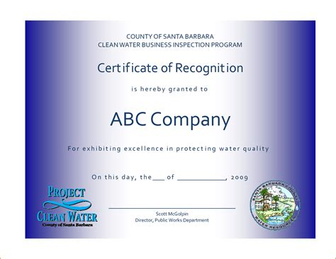templates for certificates of recognition 7 recognition certificate template bookletemplate org