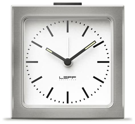 block alarm clock steel white modern alarm clocks other metro by naken interiors