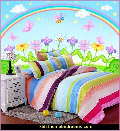 rainbow bedroom decor rainbow theme bedrooms rainbow mural stickers rainbow