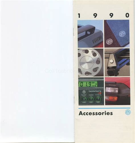 Tapis Golf 1 Cabriolet by Accessoires Vw 1989 Usa Golf1cabriolet