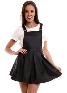 black leather overalls dress my style pinterest