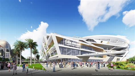news san diego chargers look at proposed stadium and convention center los