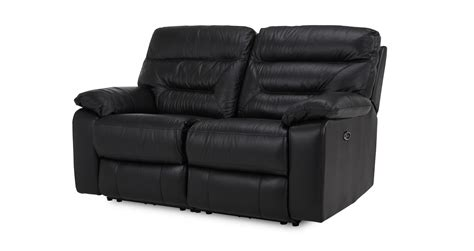 dfs leather recliner dfs active black leather look 2 seater electric recliner