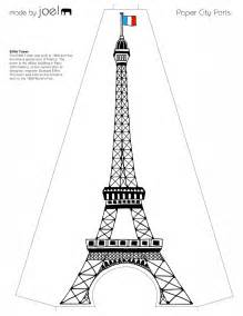 eiffel tower template free made by joel 187 paper city