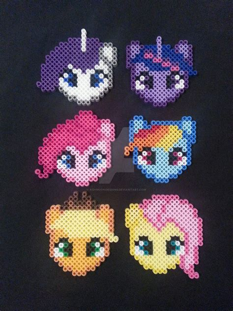 bead my my pony perler bead ornaments by ashmoondesigns on